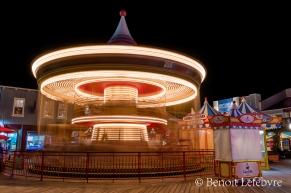 Le carrousel La nuit.