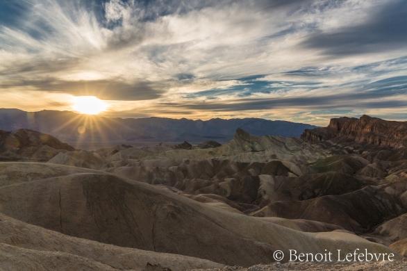 Couché de soleil Death Valley