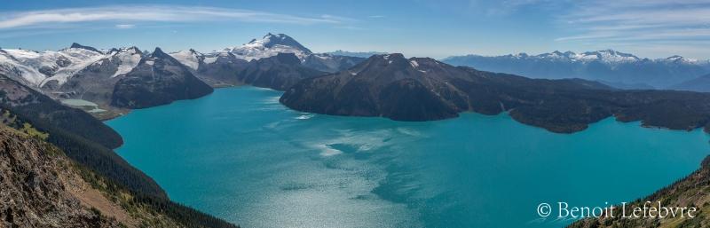 Vue imprenable sur le glacier de Garibaldi